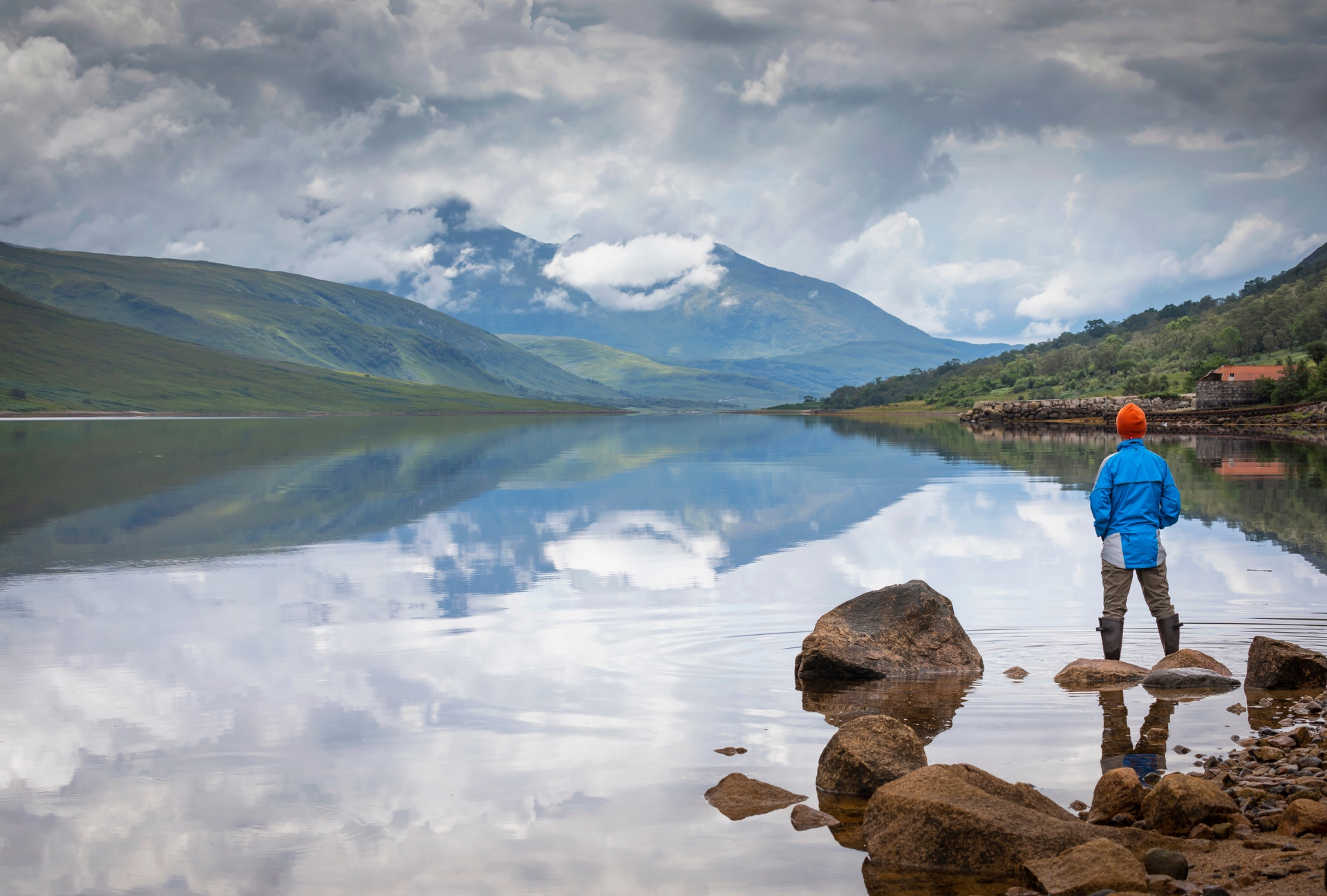 Looking over Loch Etive with Ben Cruachan in the distance