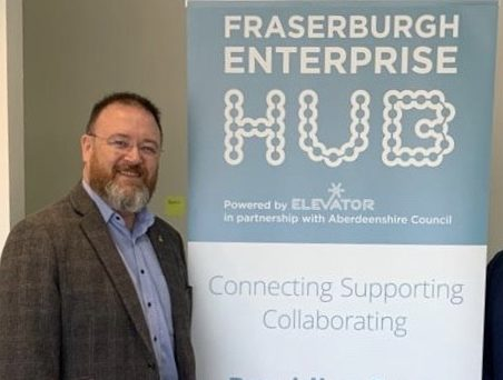 David Duguid on a recent visit to the Fraserburgh Enterprise Hub