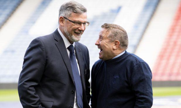 Craig Levein (left) and John Robertson.