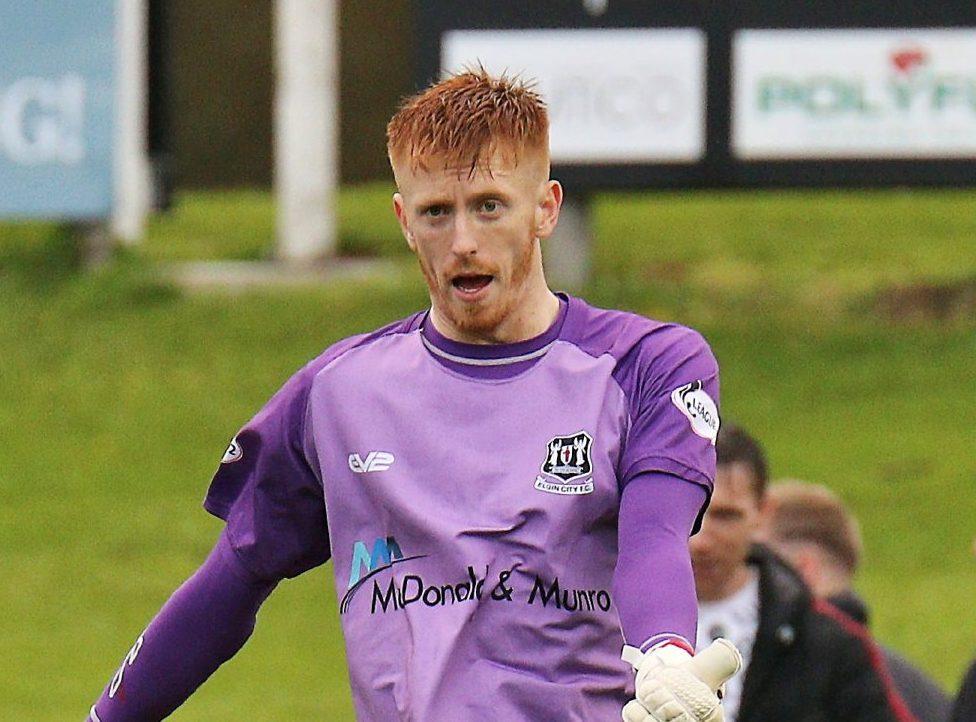 Elgin goalkeeper Thomas McHale.