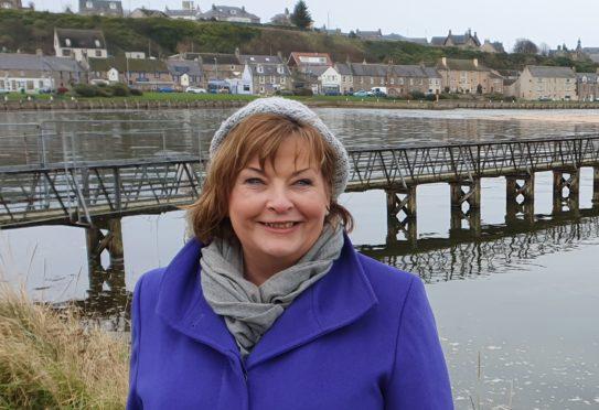 Scottish Government minister Fiona Hyslop in Lossiemouth.