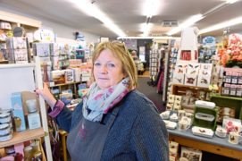 Carolyn Wilson at her florist and gift shop, Victoriana, in Alness. Picture by Sandy McCook