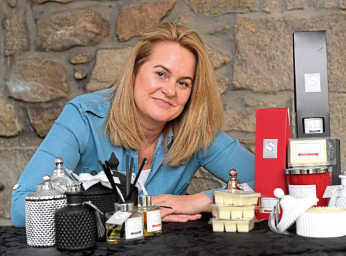 Caroline Walker, who runs a business selling luxury soy candles and reed diffusers.   Picture by KATH FLANNERY