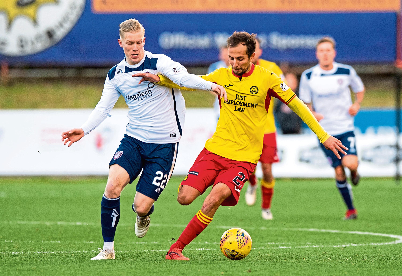 Miko Virtanen (left) was on loan at Arbroath last season.