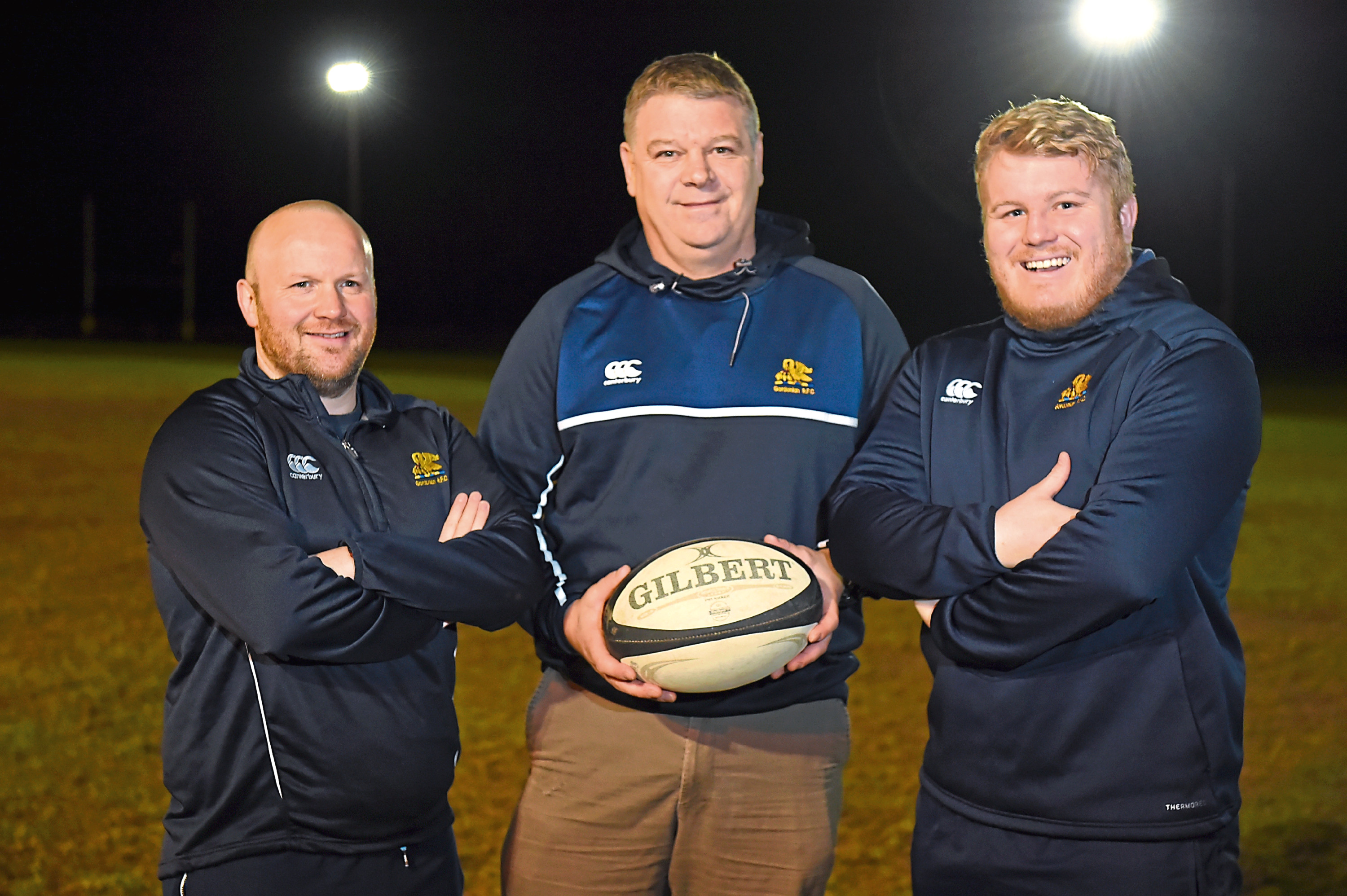 Jim Sugden, centre, has stepped down at Gordonians.