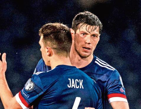 Scotland's Ryan Jack and Scott McKenna