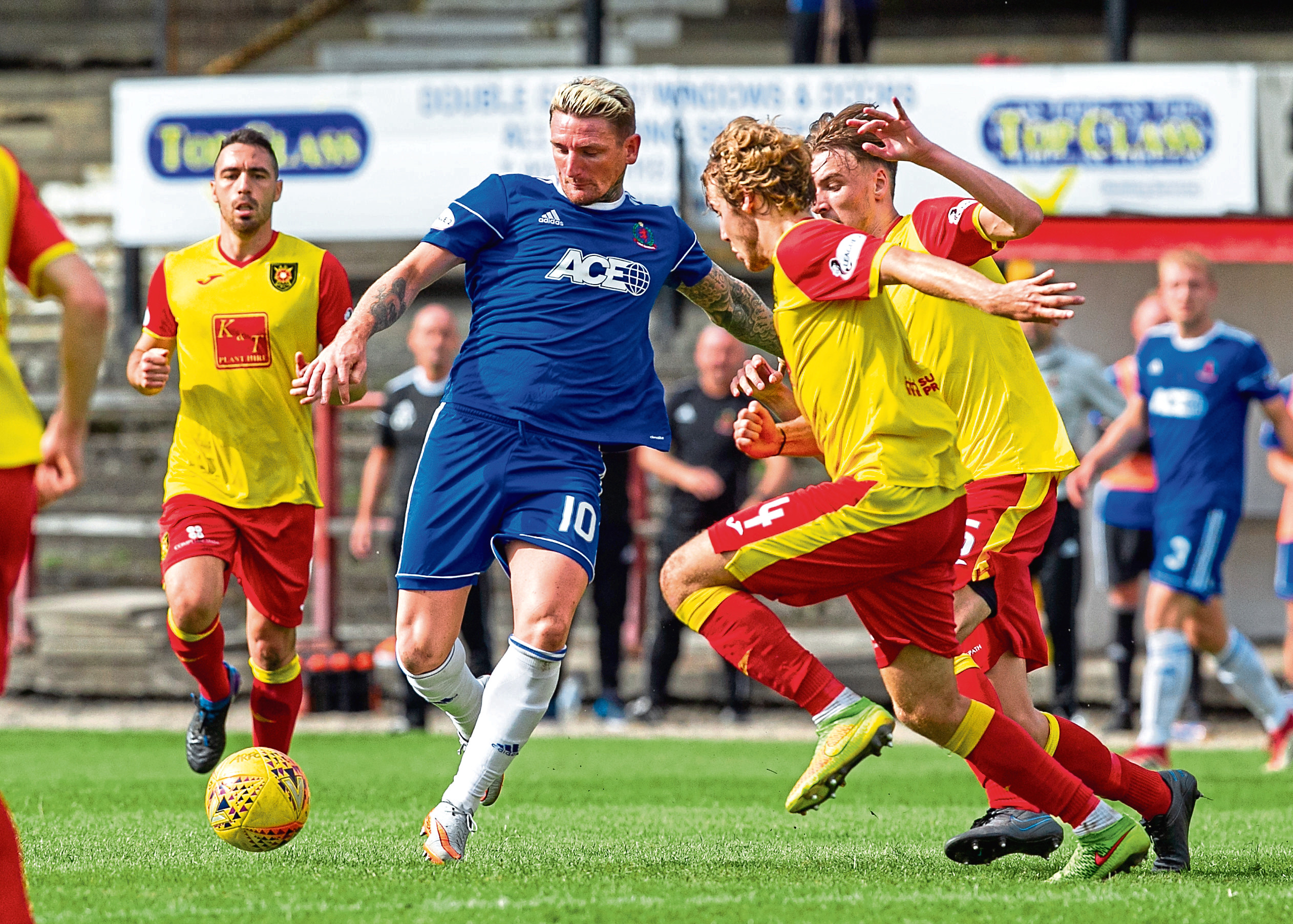 Scott scored four times for Cove.