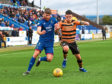 Shaun Rooney in action, left, against Alloa.