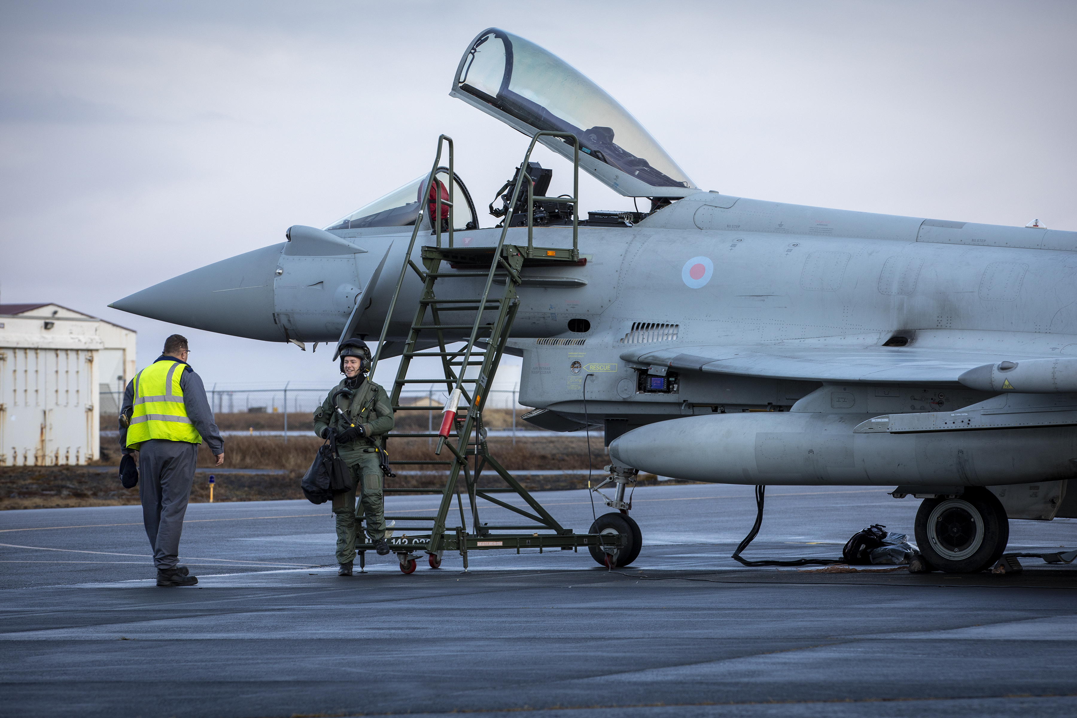 Crews from RAF Lossiemouth have arrived at Keflavik Air Base as part of a Nato mission.