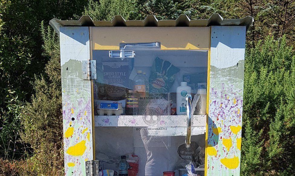 A 'Blessing Box' has been placed in Kyle of Lochalsh to benefit members of the community who may be facing hardship
