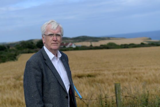 Councillor Ian Mollison at the site the Scottish Government overruled he and his fellow councillors on