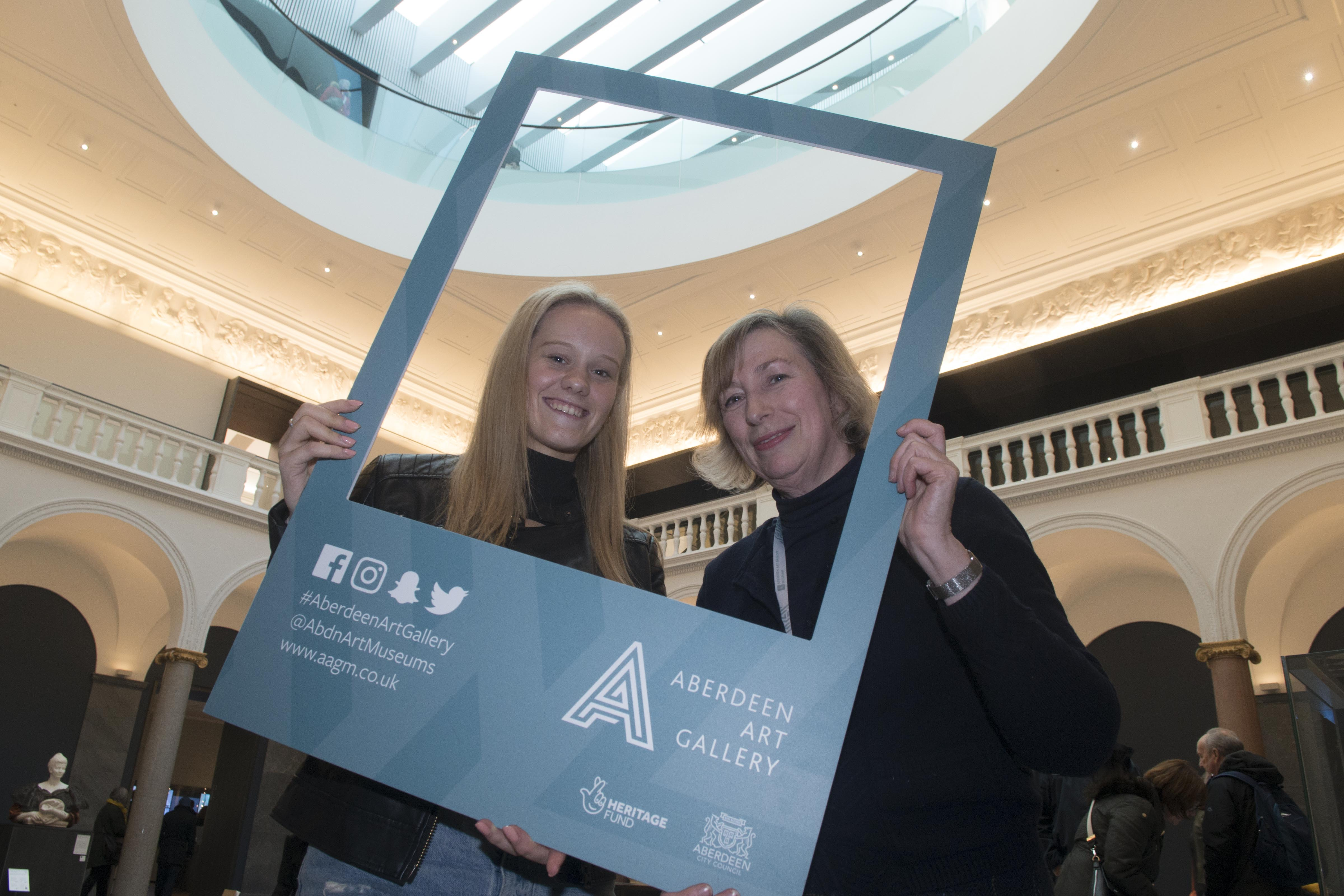 Jennifer Milne  and Christine Rew marking the 10,000th visit
