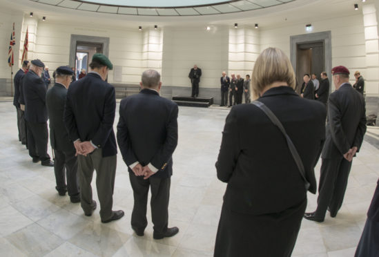 Veterans and serving representatives from the armed forces were among the guests at the rededication service