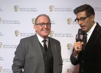 Still Game stars Ford Kiernan and Sanjeev Kohli reunite on the red carpet at the Bafta Scotland awards