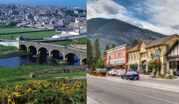Banff, Aberdeenshire, left, and Banff, Canada