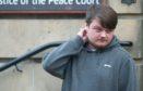 Bradley Morrison leaving Elgin Sheriff Court.