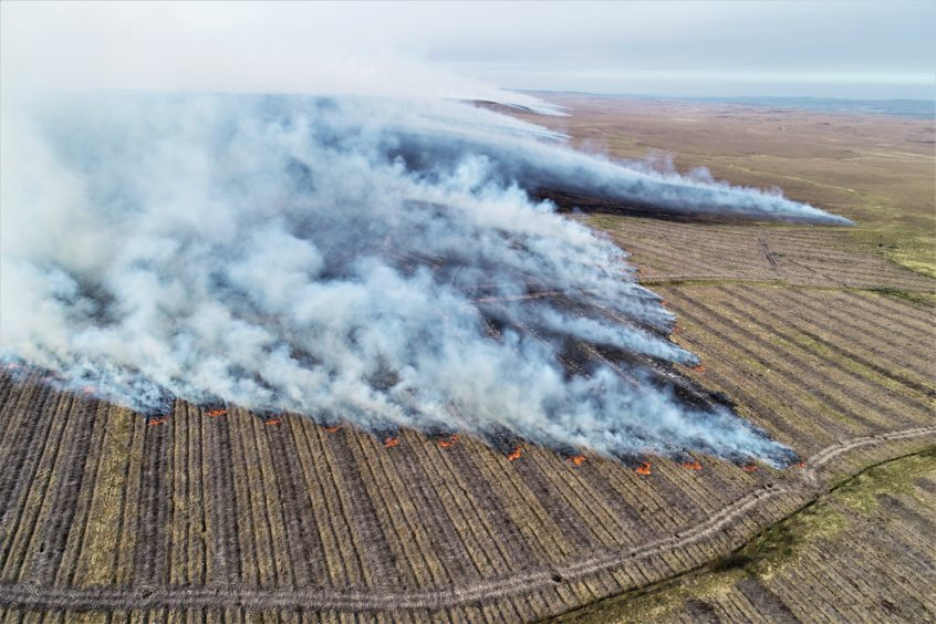 Fire crews battled for six-days to bring the blaze under control