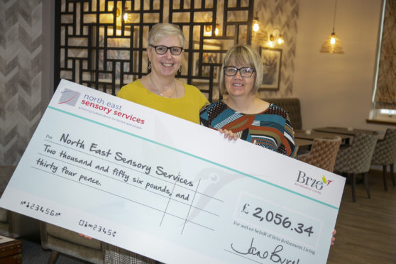 Louise Richardson, general manager at Brio Landale Court with Susan Hewitt of Ness.