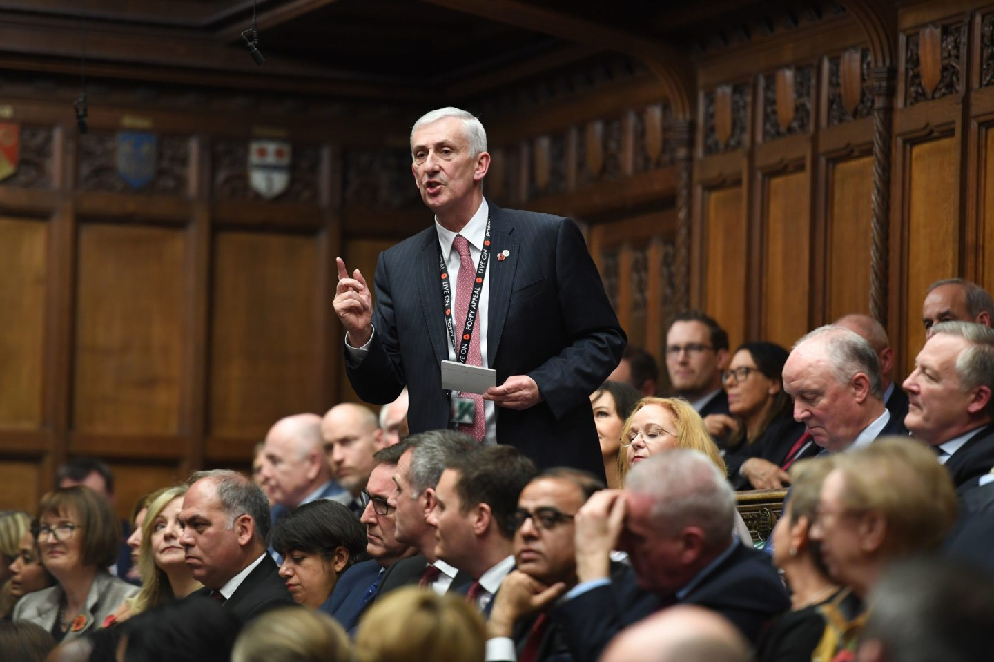 Sir Lindsay Hoyle making his plea to be elected speaker of the House of Commons.