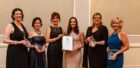 Winners from the Moray Business Women awards ceremony. Pictured: Sheila Hull, Joan Johnston, event host Nicky Marr, Aimee Stephen, Amanda Nasser, and Susan Beveridge. Picture: Lindsay Robertson Photography.