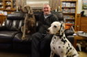 Jim Bruce with his dalmatian