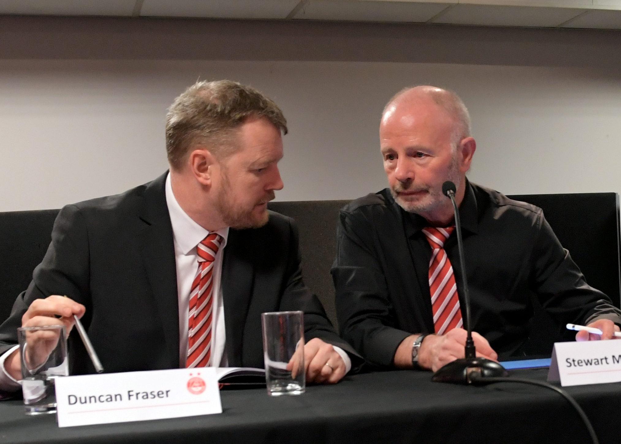 Duncan Fraser with former chairman Stewart Milne