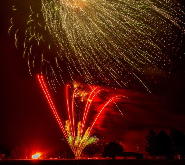 Elgin Rotary Fireworks Display.