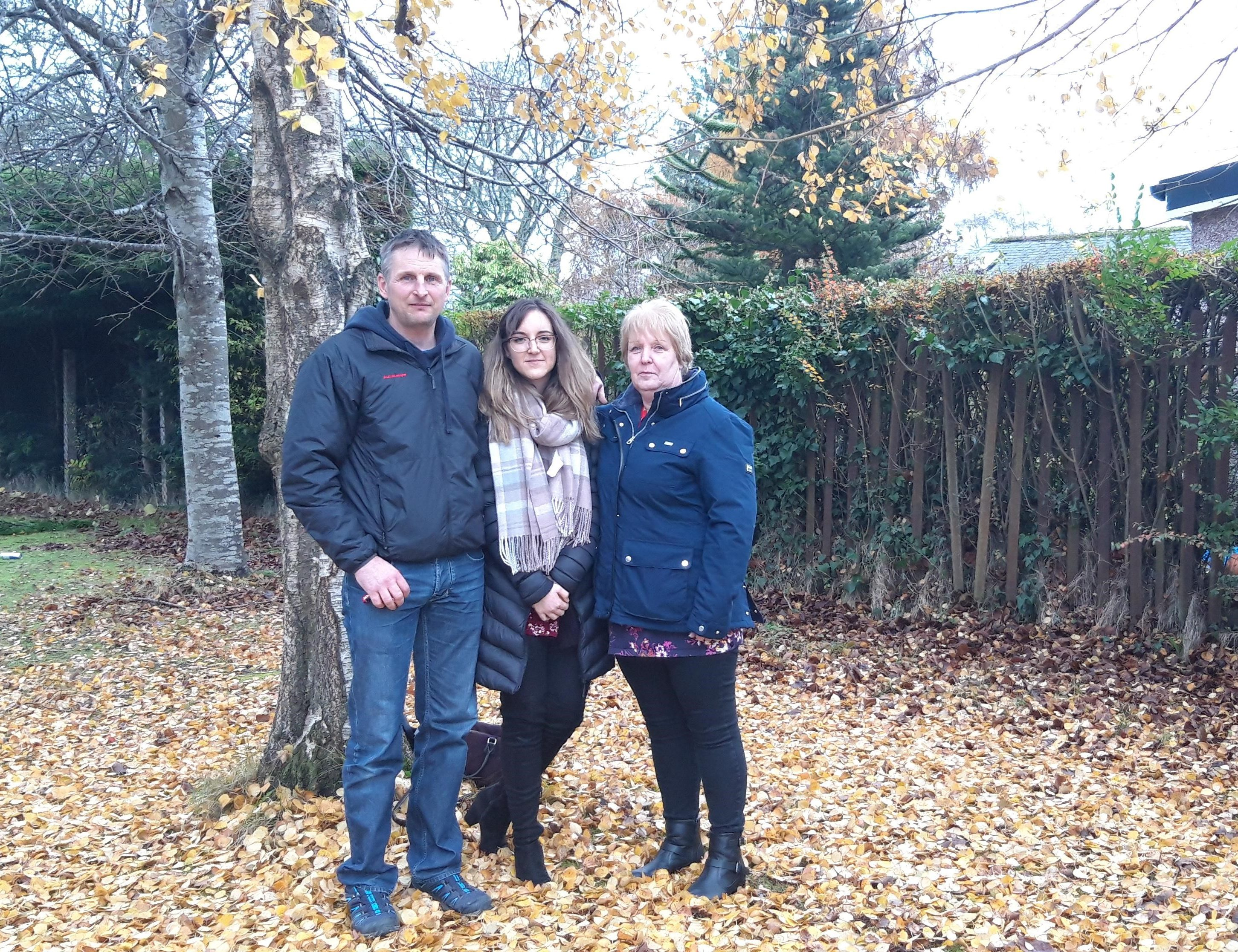Neil Scott-Moncrieff, 45, Emma Beaton, 22, and Joan Beaton, 57 from Flodigarry