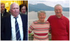 Gerald Clark, left, was convicted of causing the death of Mary Allan, pictured right with husband Ian.