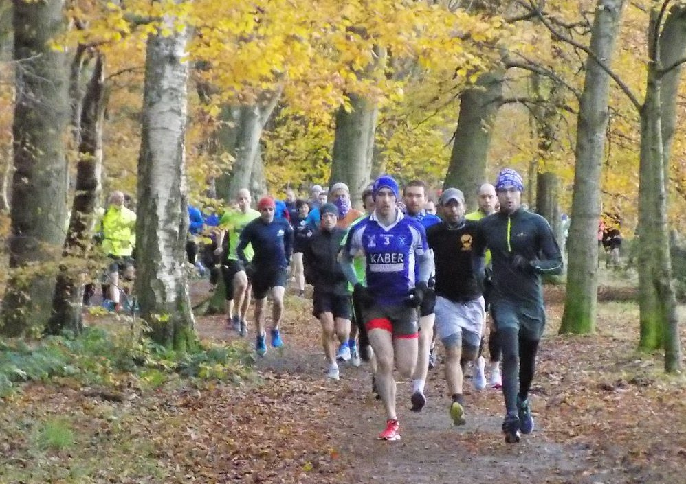 The Hazlehead runners in action