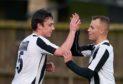 Fraserburgh's Grant Campbell, left, celebrates a goal.