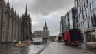Work on Aberdeen's Christmas Village is under way