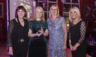 Representatives from the school Marsan Clutsom, Tara Lancaster and Anne Gillies attended the Highland Council run awards to receive the award for Supporting People to Learn and Thrive from Kirsteen MacDonald
