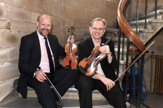 Neil McLennan with Paul Ferguson from Napier University