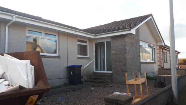 The bungalow in New Aberdour property which had been turned into a cannabis cultivation.