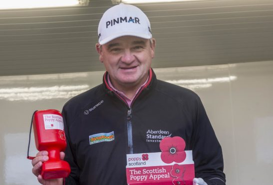 Paul Lawrie has backed the Poppyscotland appeal. Pic: Mark Owens.