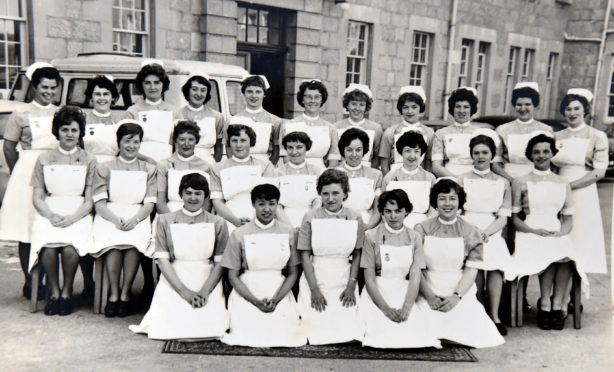 Former nurses from Aberdeen Royal Infirmary celebrate 60 year since they began their training.