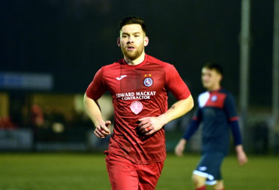 Brora Rangers midfielder Gavin Morrison.