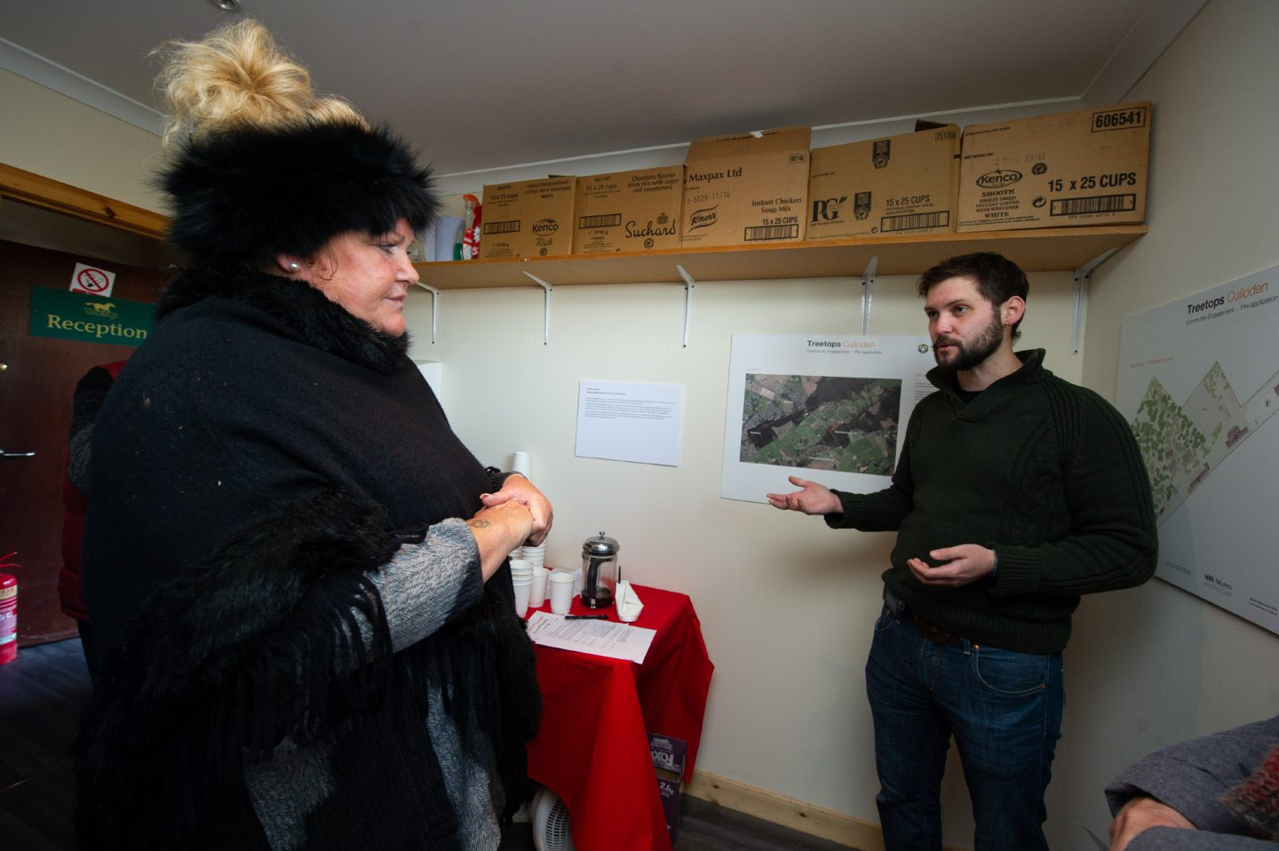 Andrew McKenzie (former manager of Culloden Battlefield) and land owner Louise MacDonald discuss the development.  Picture by JASON HEDGES
