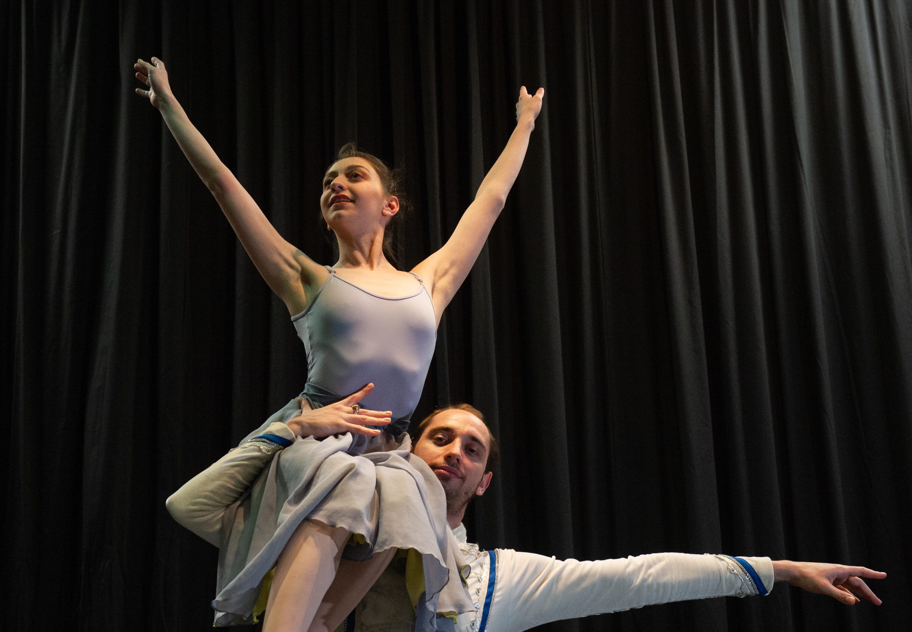 Dancers from the Russian State Ballet are performing at Speyside High School as part of a long-standing relationship between the group and the village. Pictured: couple 1 - Polina Filippova and LLia couple 2 - Maria Dzotsenidze and Aleksandr Suldin   Pictures by JASON HEDGES