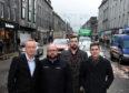 (L-R) Adrian Watson (Aberdeen Inspired), Craig Stevenson (Bon Accord), Michael Bracken, (Debenhams), Jamie Wishart (John Lewis).  Picture by KENNY ELRICK