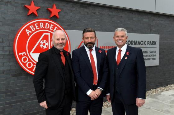 Stewart Milne, Derek McInnes and Dave Cormack.