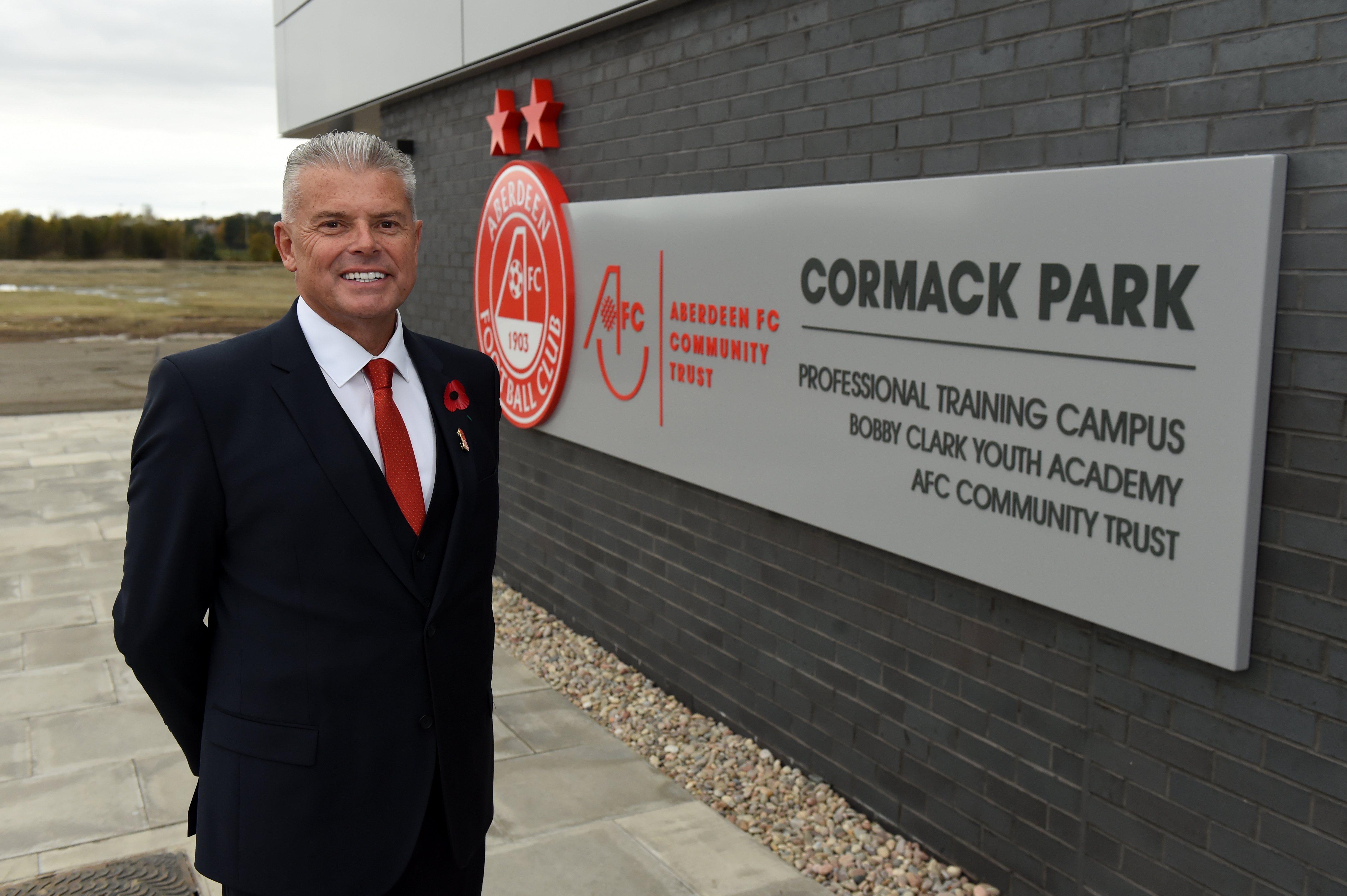 Aberdeen vice-chairman Dave Cormack, at the opening of the training campus that bears his name.