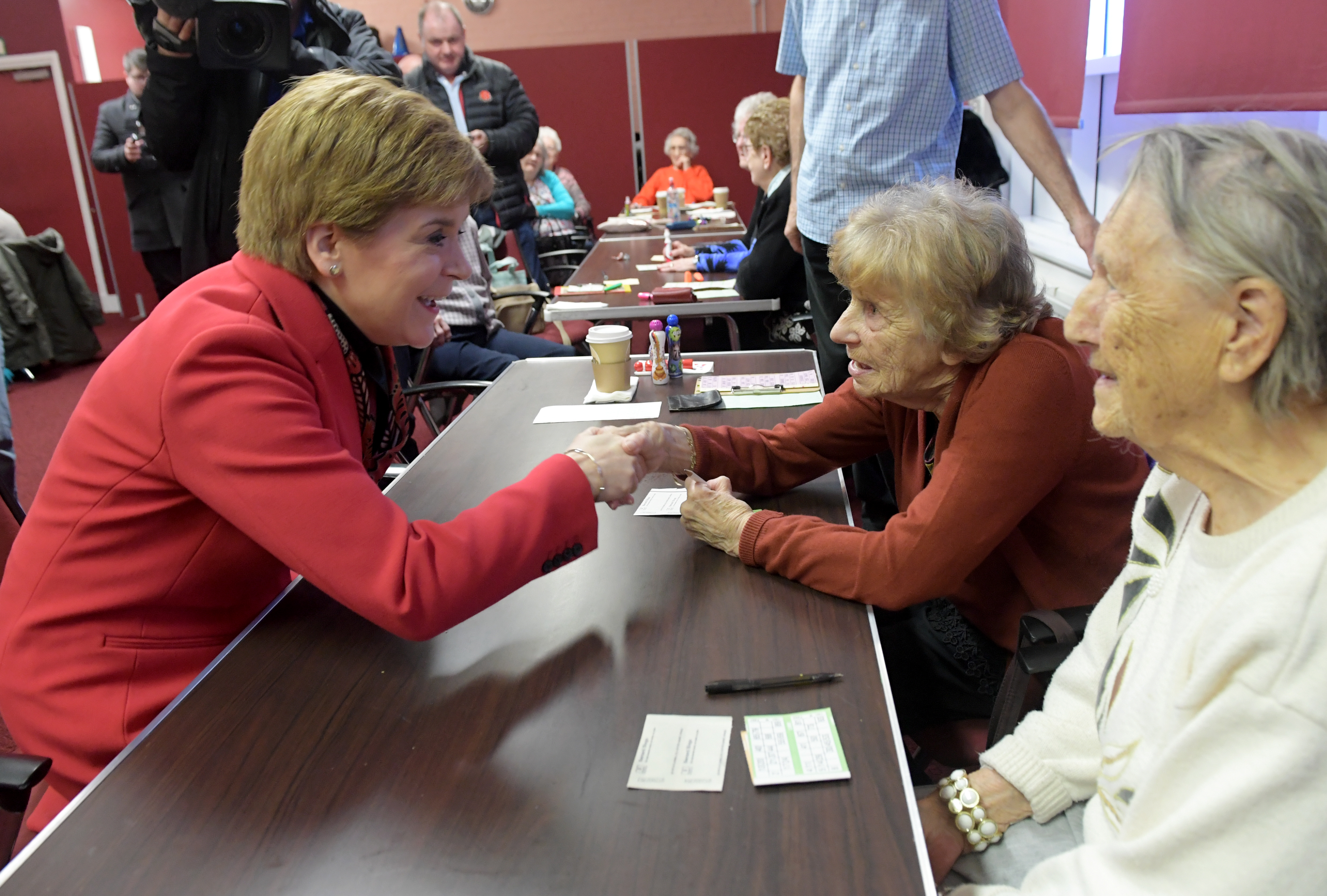 First Minister Nicola Sturgeon on the campaign trail at Inchgarth Community Centre.  Picture by KATH FLANNERY