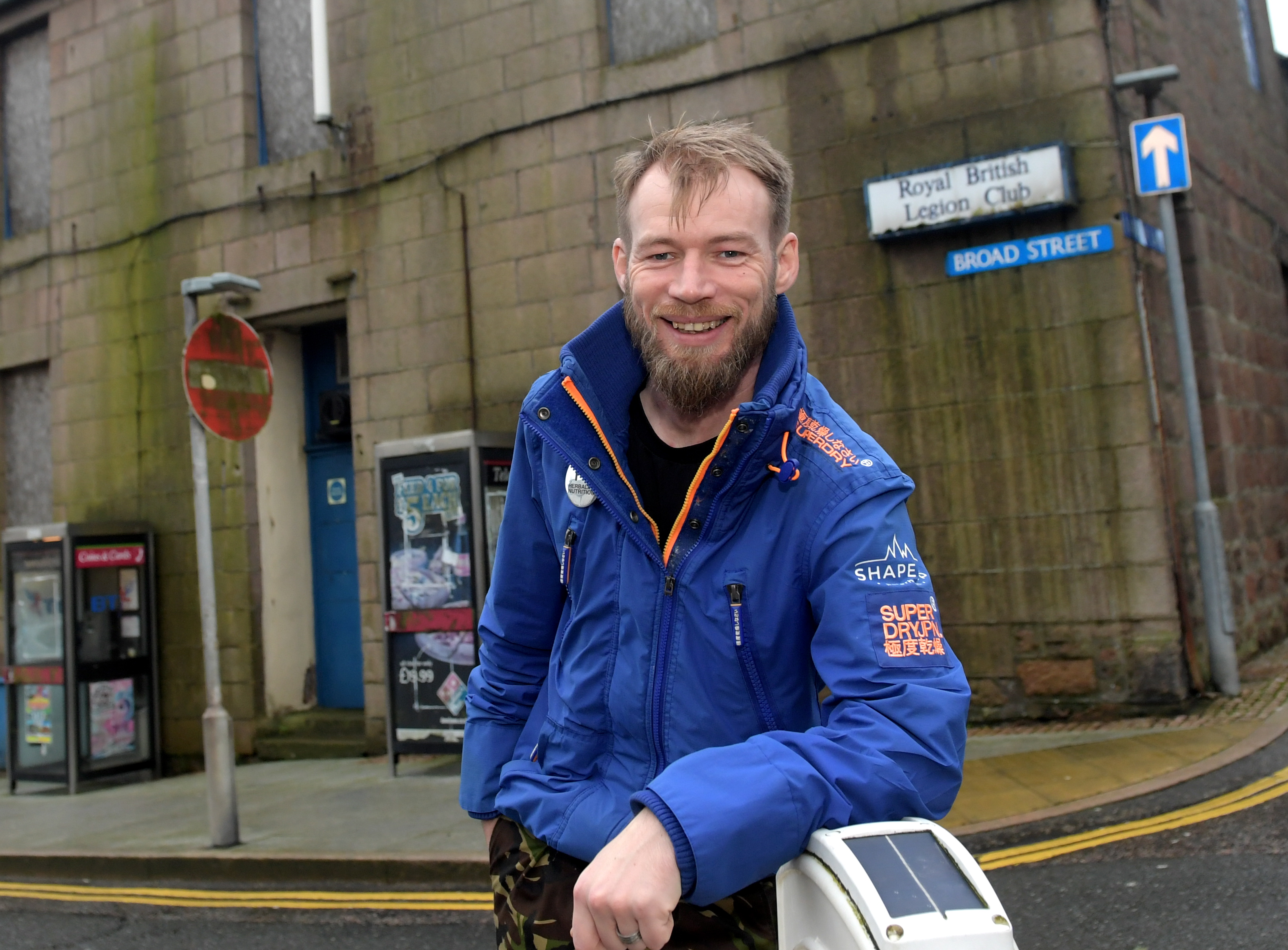 Creator of Shape Up Peterhead, PJ Coutts, is in the process of applying for a development grant from the Scottish Land Fund to transform the old Royal British Legion Building in Peterhead into a multipurpose community building. CR0016624 25/11/19  Picture by KATH FLANNERY