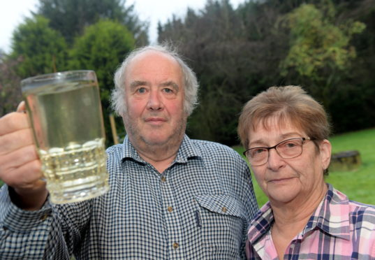 Ron and Kathleen Jamieson's water supply was polluted when people living in the static caravans started digging in the neighbouring field. They feel like they've been ignored by the council.  CR0016797 26/11/19 Picture by KATH FLANNERY