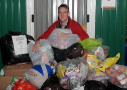 North-east doctor Andrew Bayliss has been collecting thousands of crisp packets to help fund the new SCAA air ambulance coming to Aberdeen.