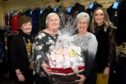 Pictured from left are Alison Rob from Dorothy Jacks, Fundraisers Morag Walker and Wilma Bruce and Carly Wheeler from Dorothy Jacks Picture by Paul Glendell