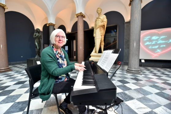 Queen's Master of Music Judith Weir to perform Big Picture at Aberdeen Art Gallery.    Picture by Scott Baxter    31/10/2019