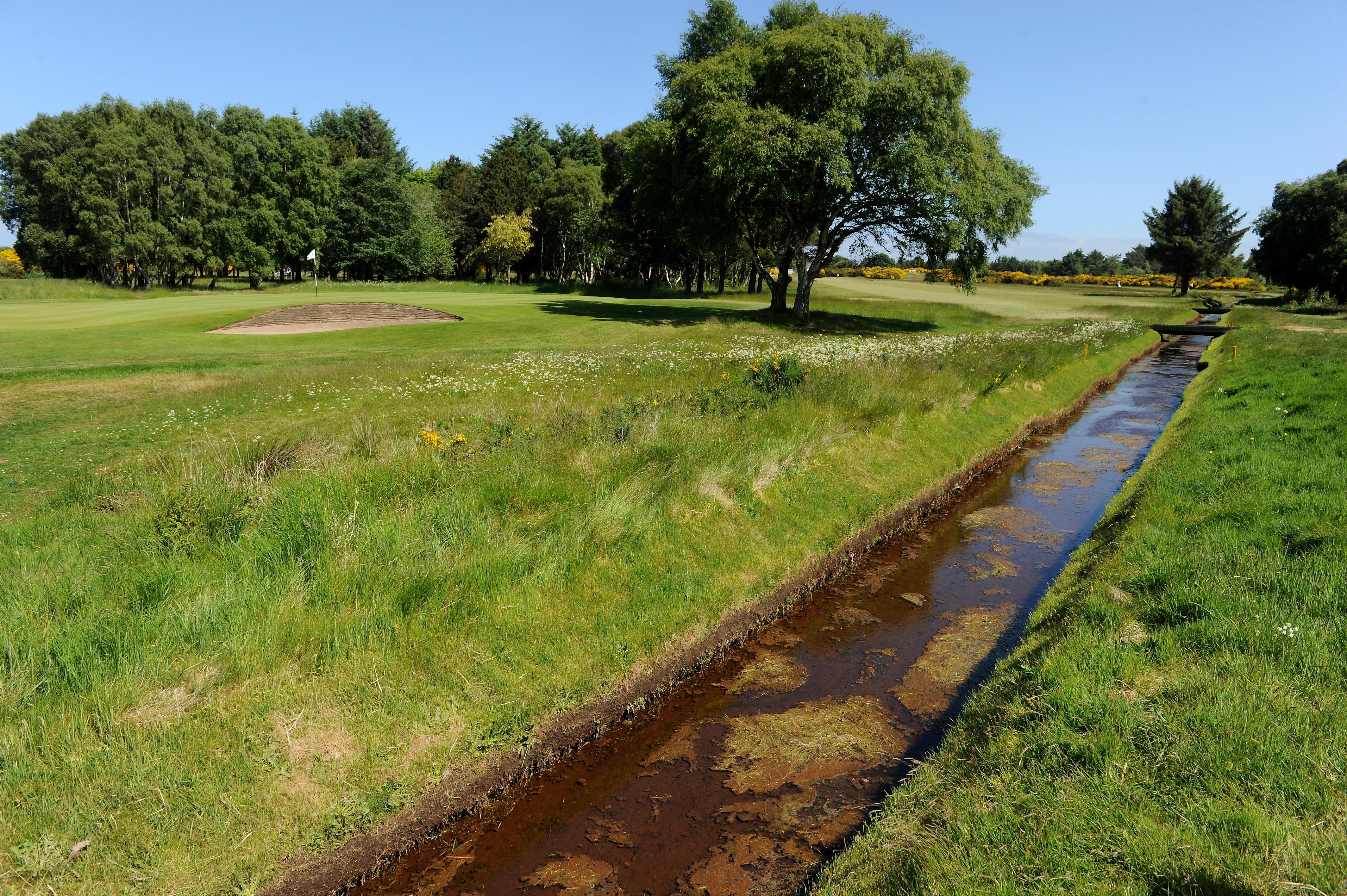 The Nairn Dunbar course at Nairn.